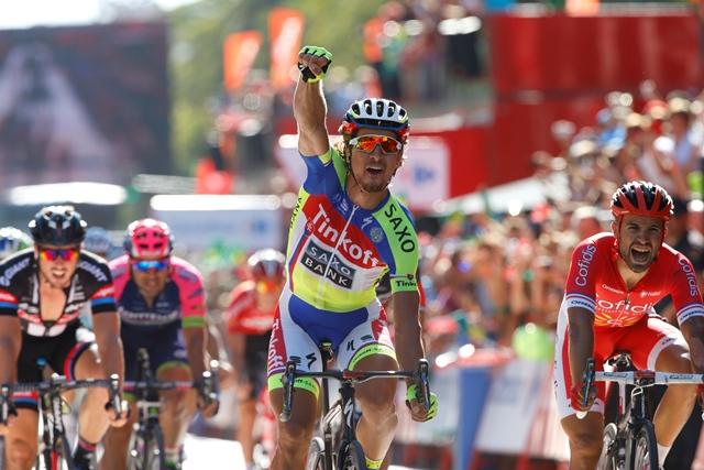 Гонщик российской команды «Тинькофф-Саксо» Петер Саган выиграл третий этап «Вуэльты»