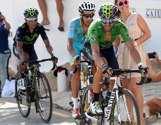 Алехандро Вальверде и Наиро Кинтана о 9-м этапе Вуэльты Испании-2015