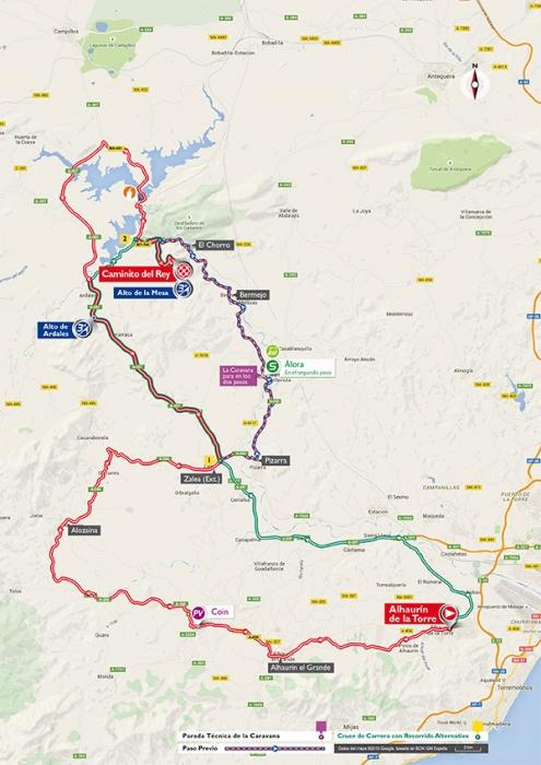 Вуэльта Испании-2015, превью: 2 этап, Алаурин-де-ла-Торре - Королевская тропинка, 158,7 км