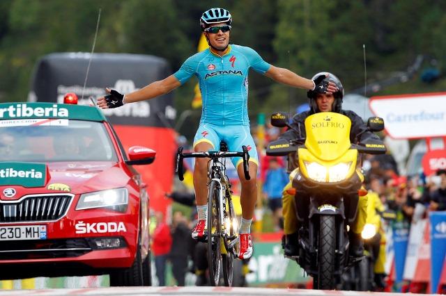 Микель Ланда - победитель королевского горного этапа Вуэльты Испании-2015 в Андорре