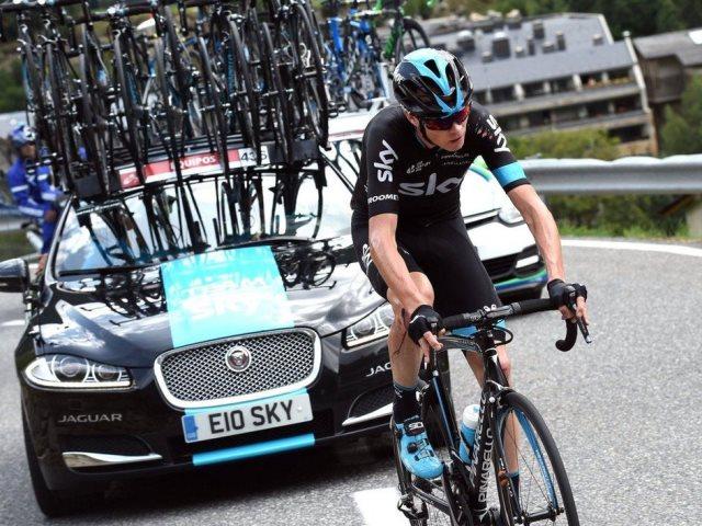 Крис Фрум может сойти с Вуэльты Испании-2015 из-за падения на 11 этапе в Андорре