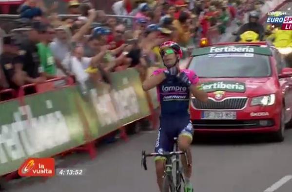 Нельсон Оливейра - победитель 13 этапа Вуэльты Испании-2015