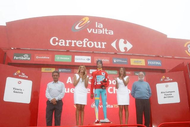 Кинтана, Вальверде и Ару о финише 14 этапа Вуэльты Испании-2015