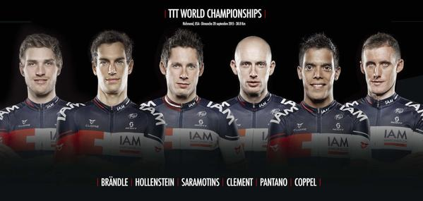 Состав команды IAM Cyling на командную гонку (TTT) чемпионата мира-2015