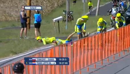 Падение лишило гонщиков команды Tinkoff-Saxo шансов в борьбе за медали чемпионата мира