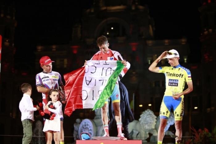 Капитан команды Astana Фабио Ару - победитель 70-го выпуска Вуэльты Испании