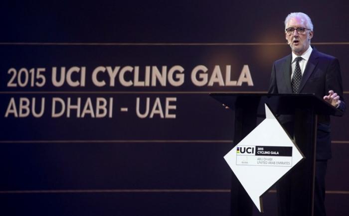 Церемония награждение лучших велогонщиков сезона 2015 года в Абу-Даби