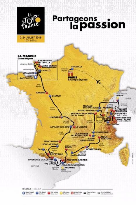 Тур де Франс-2016. Презентация маршрута