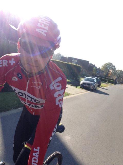 Крис Букманс вернулся на велосипед