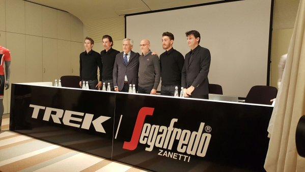 Команда Trek-Segafredo и Mapei Sport вместе в 2016 году