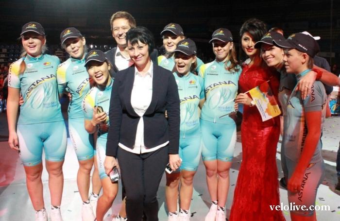 VeloLIVE на церемонии чествования велосипедных команд Казахстана в Астане