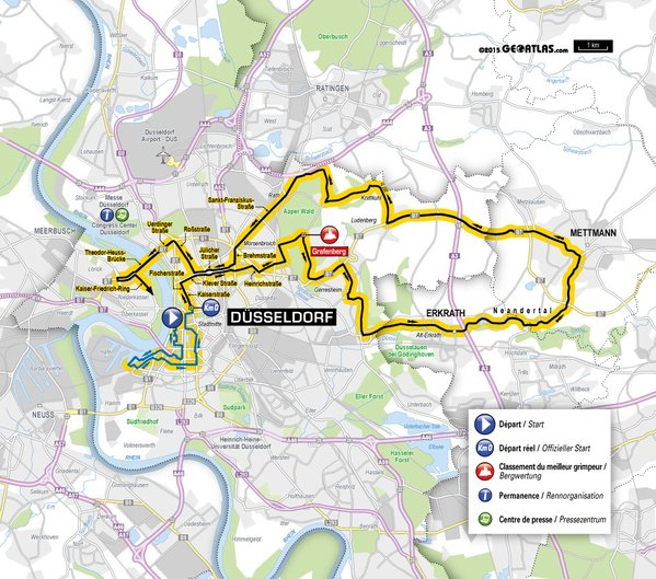 Тур де Франс-2017 стартует с 13-км индивидуальной гонки на время