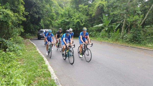 Нибали, Ару и Малори провели разведку олимпийской трассы в Рио-де-Жанейро