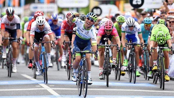 Калеб Юэн (Orica-GreenEDGE) впервые надевает майку лидера в гонке Мирового тура