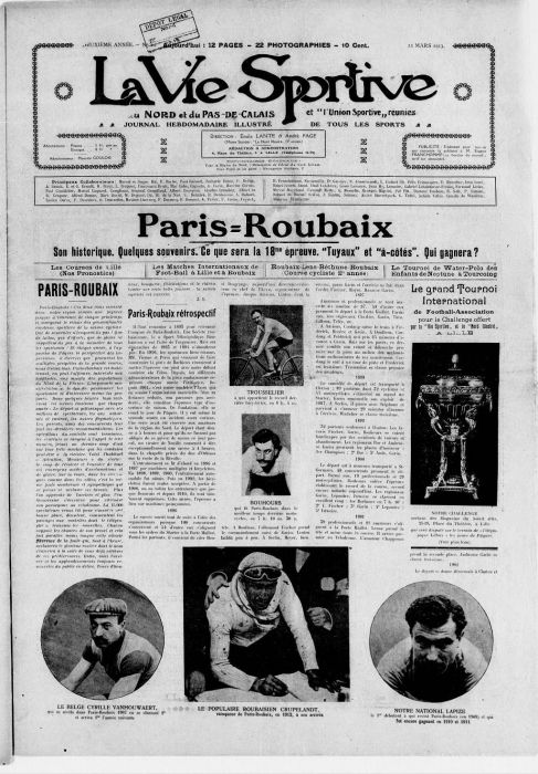 Страницы истории велоспорта: Париж-Рубэ-1913