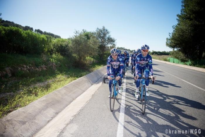 Фоторепортаж со сборов команды Wanty-Groupe Gobert