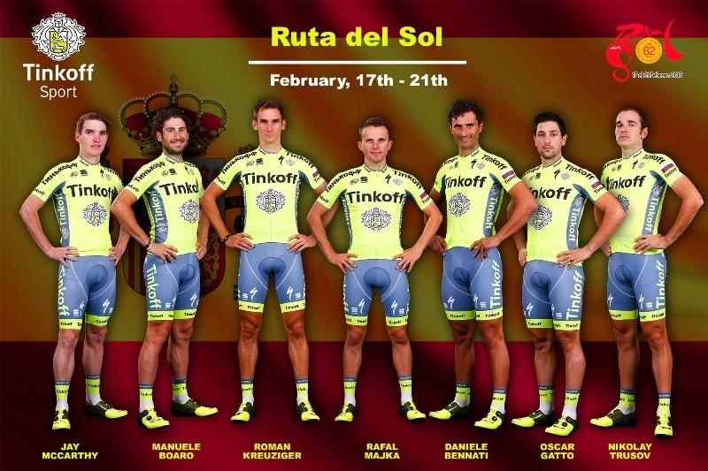 Майка и Кройцигер будут лидерами команды «Тинькофф» в Испании на Ruta del Sol