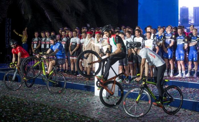 Пресс-конференция гонщиков и презентация команд перед стартом Тура Дубая-2016