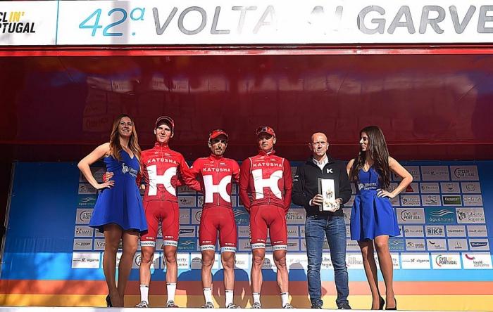 Герант Томас, Фабио Ару, Тибо Пино и Ильнур Закарин о 5 этапе Вольты Альгарве-2016