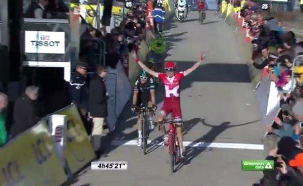 Ильнур Закарин (KATUSHA) - победитель 6-го этапа Париж-Ниццы-2016