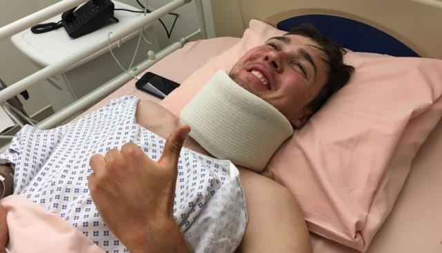 Даниил Фоминых (Astana) упал во время заключительного этапа Париж-Ниццы-2016