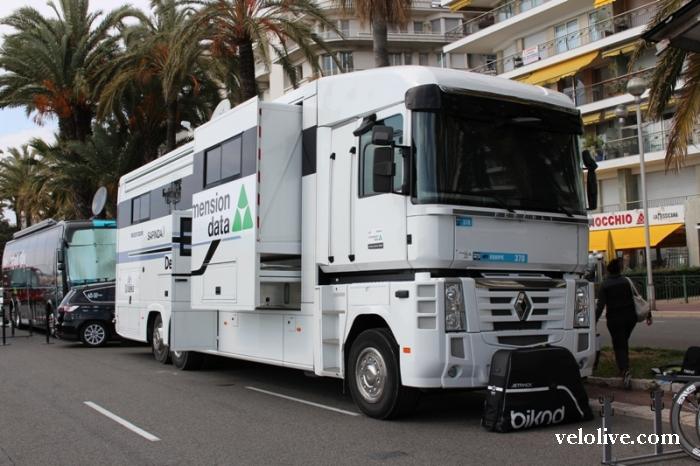 Автобусы и грузовики велосипедных команд на Париж-Ницца-2016