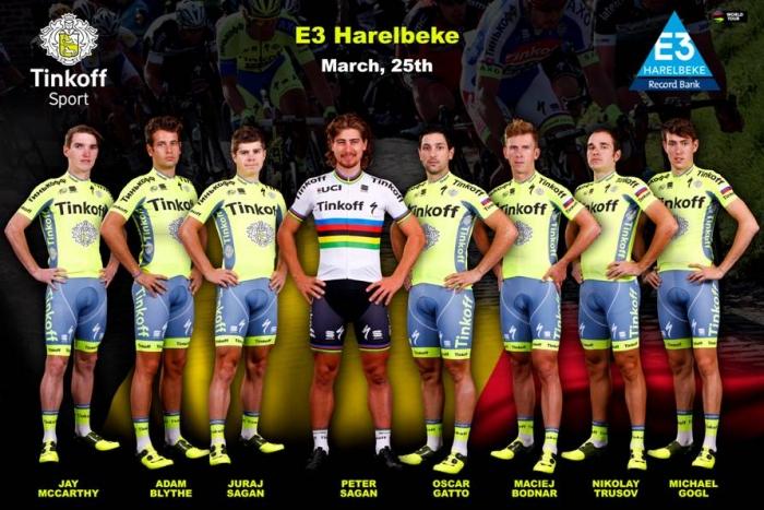 Петер Саган будет лидером «Тинькофф» в Бельгии на гонке E3 Harelbeke-2016