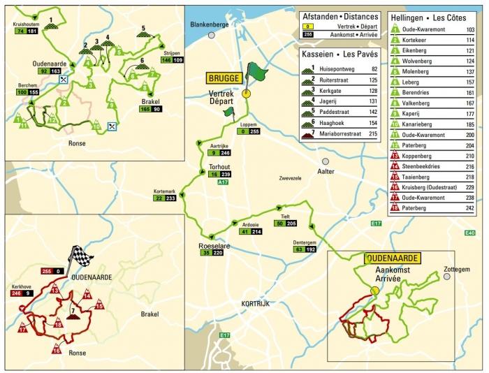 Тур Фландрии-2016: маршрут и претенденты