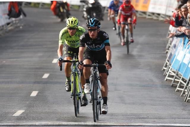 Sergio Henao, Alberto Contador, Joaquin Rodriguez, Nairo Quintana о 5-м этапе Vuelta Ciclista al Pais Vasco-2016
