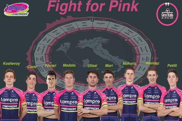 Состав команды Lampre-Merida на Giro d'Italia-2016