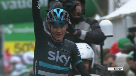 Chris Froome (Sky) - победитель 4-го этапа Tour de Romandie-2016