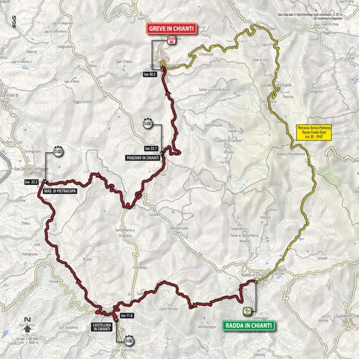 Джиро д'Италия-2016, превью этапов: 9 этап, Радда-ин-Кьянти - Греве-ин-Кьянти (ITT), 40.5 км