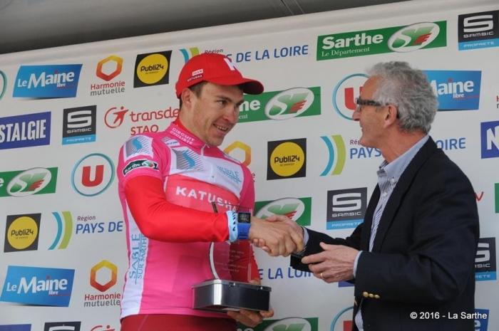 Антон Воробьев - победитель горной и очковой классификаций Circuit Cycliste Sarthe-2016