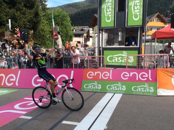 Alejandro Valverde (Movistar) – победитель 16-го этапа Giro d'Italia-2016