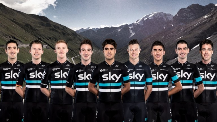 Состав команды Sky на Джиро д'Италия-2016
