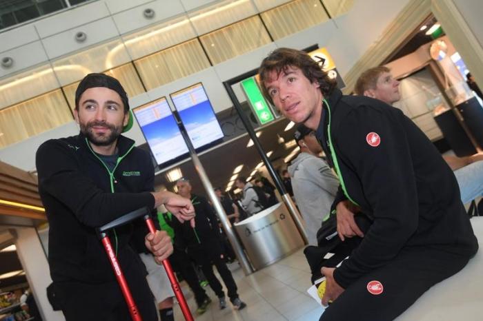 Фотогалерея: перелет Джиро д'Италия-2016 из Нидерландов в Италию