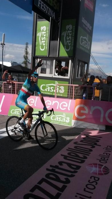 Винченцо Нибали (Astana) - победитель 19-го этапа Джиро д'Италия-2016