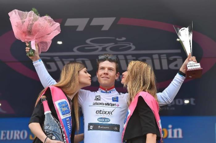 Боб Юнгельс - победитель в молодёжной классификации Джиро д'Италия-2016
