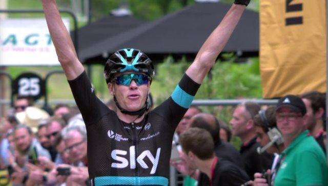 Chris Froome (Sky) - победитель 5-го этапа Criterium du Dauphine-2016