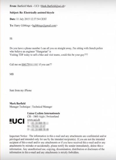 Механический допинг в шоссейном велоспорте: представители UCI в курсе?