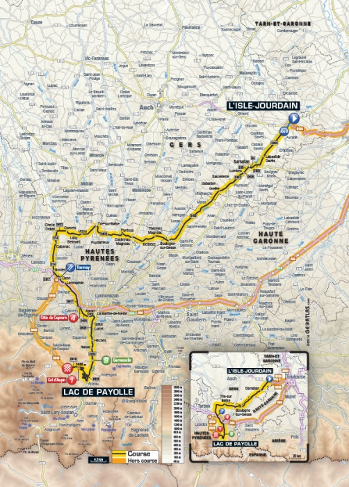 Тур де Франс-2016, превью этапов: 7 этап, Л'Иль-Журден - Озеро Пайоль, 162.5 км