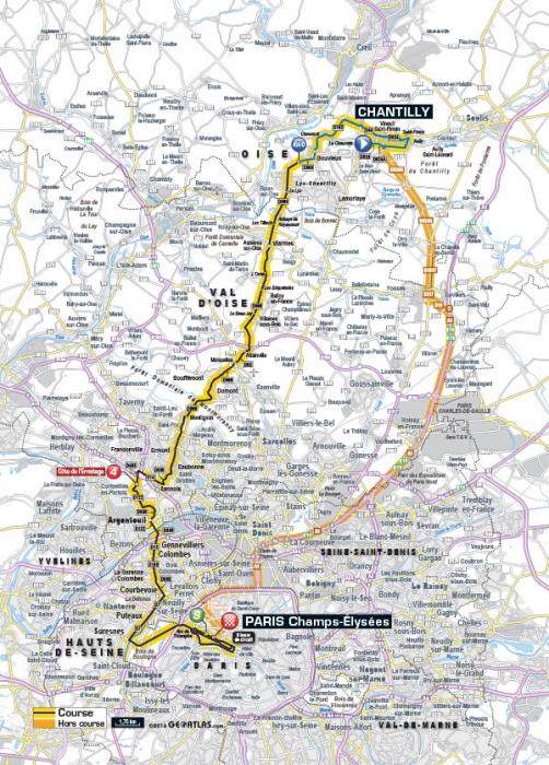 Тур де Франс-2016, превью этапов: 21 этап, Шантийи - Париж, Елисейские поля, 113 км