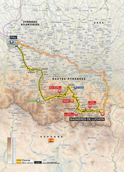 Тур де Франс-2016, превью этапов: 8 этап, По - Баньер-де-Люшон, 184 км
