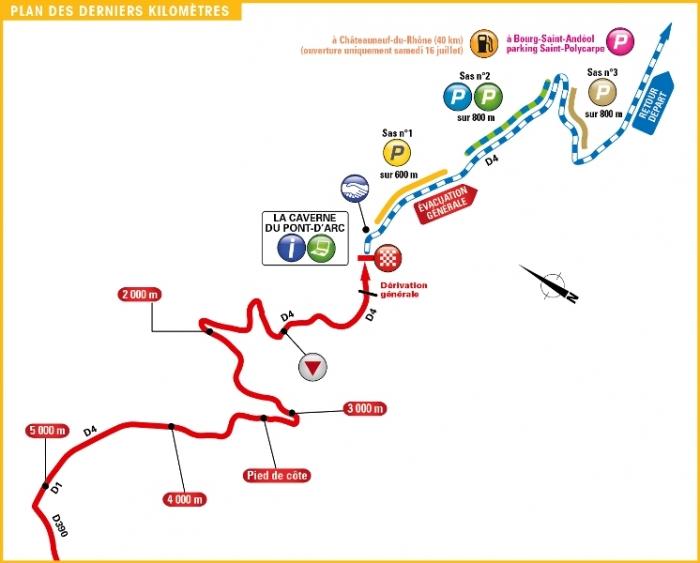 Тур де Франс-2016, превью этапов: 13 этап, Бур-Сент-Андеоль - Пещера Пон д'Арк (ITT), 37.5 км
