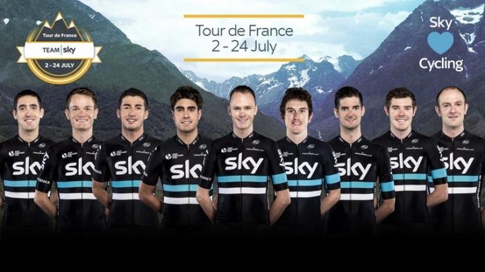 Состав команды Sky на Тур де Франс-2016