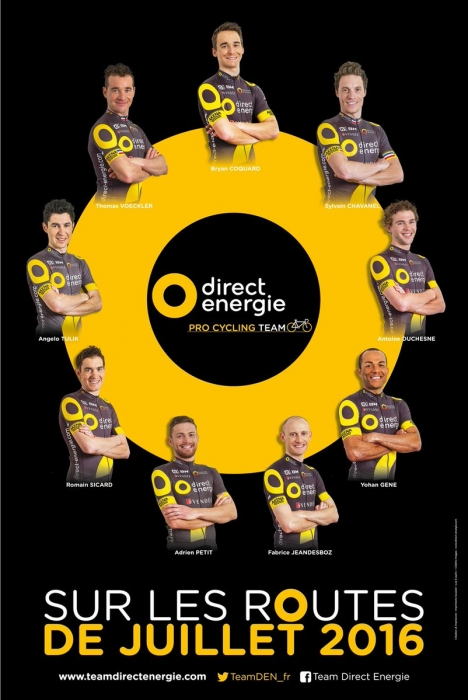 Состав команды Direct Energie на Тур де Франс-2016