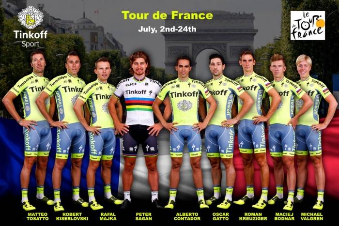 Состав команды Tinkoff на Тур де Франс-2016