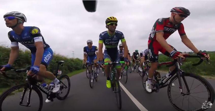 Видеокамеры на велосипедах. Тур де Франс-2016, 3 этап