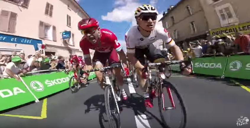Видеокамеры на велосипедах. Тур де Франс-2016, 4 этап
