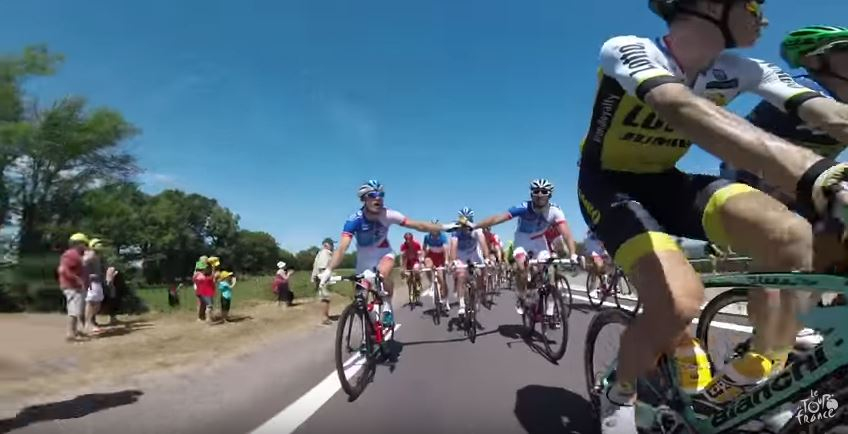 Видеокамеры на велосипедах. Тур де Франс-2016, 6 этап